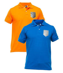 Xander House - Men's Pack of 2 Poly-Cotton Logo Printed Polo T-shirts. XH-918