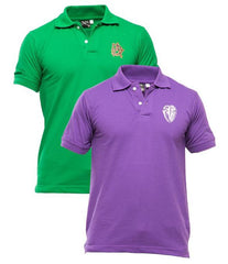 Xander House - Men's Pack of 2 Poly-Cotton Logo Printed Polo T-shirts. XH-920