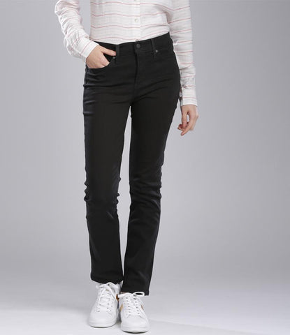 Fashion Factory - Women's Jet Black Shiner Slim Fit Jeans. FF-J001