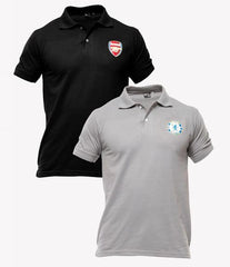 Xander House - Men's Pack of 2 Poly-Cotton Logo Printed Polo T-shirts. XH-924