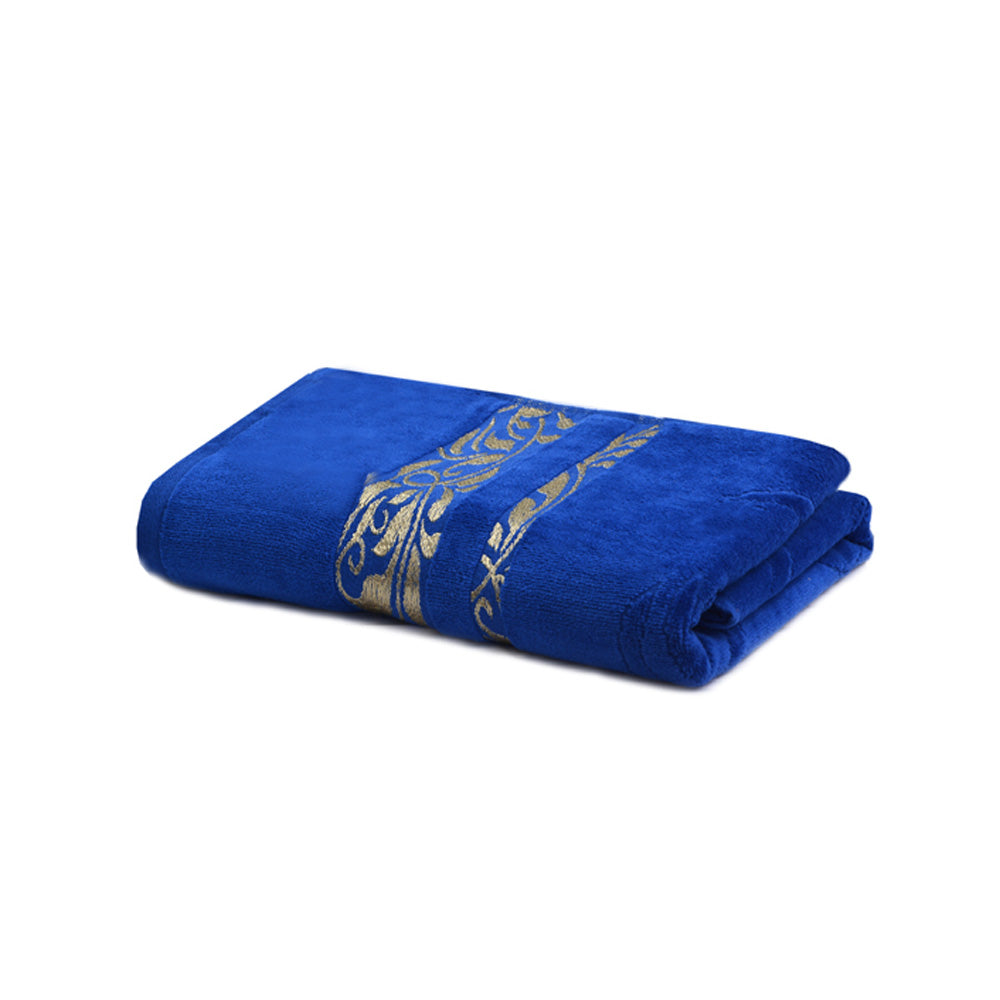 Khas Bath Towel Jaquard Velour - Blue