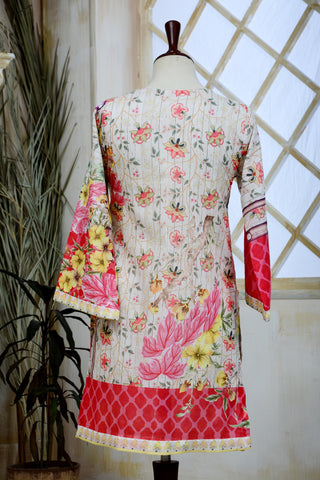 Khas Unstitched 1 PCS Women Shirt Lawn Mixed