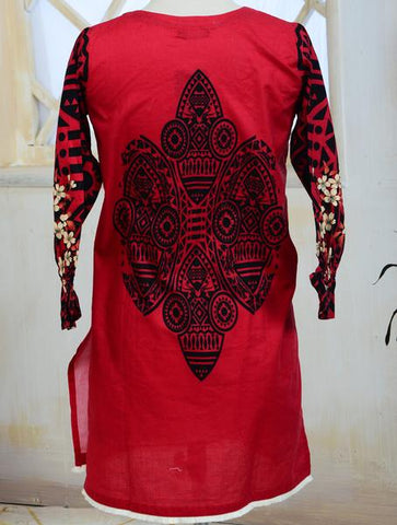 Khas Stitched Cambric 1 PCS Women Shirt KKP-023