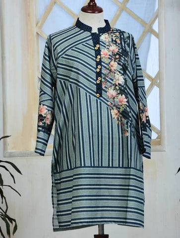 Khas Stitched Cambric 1 PCS Women Shirt KKP-025