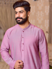 Khas Stores  1 Pcs Eid Collection  Men,s Kurta  S-6001 PINK