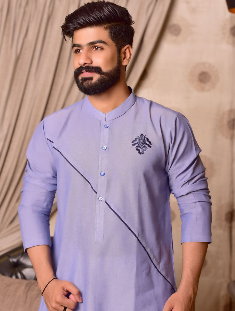 Khas Stores  1 Pcs Eid Collection  Men,s Kurta  S-6002 SKY