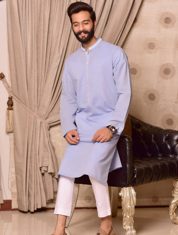 Khas Stores  1 Pcs Eid Collection  Men,s Kurta  S-6003 SKY