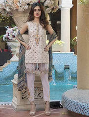 Khas Summer 3 PCS Unstitch Lawn KSE-8013