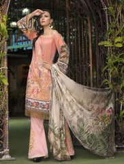 Khas Summer 3 PCS Unstitch Lawn KSE-8019