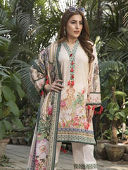 Khas Summer 3 PCS Unstitch Lawn KLA-9031