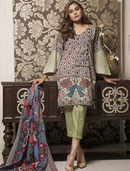 Khas Summer 3 PCS Unstitch Lawn KLA-9032