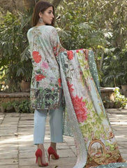 Khas Summer 3 PCS Unstitch Lawn KLA-9034