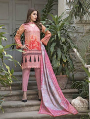 Khas Summer 3 PCS Unstitch Lawn KLA-9035