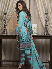 Khas Summer 3 PCS Unstitch Lawn KLA-9038