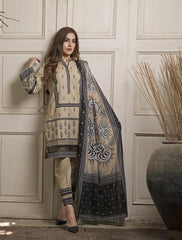 Khas Summer 3 PCS Unstitch Lawn KLA-9040