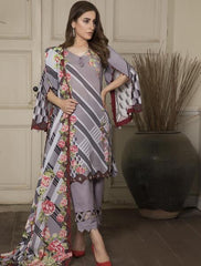 Khas Summer 3 PCS Unstitch Lawn KLA-9041
