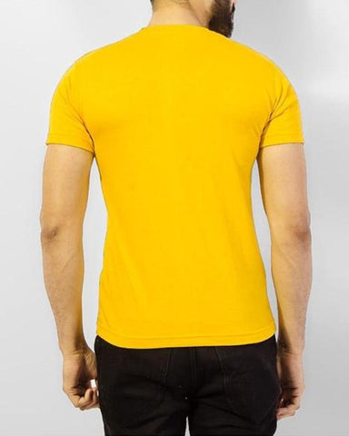 Yellow Numeric 5 Printed T-shirt For Men
