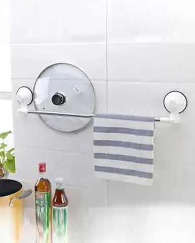 Rough Wall Surface Corners Towel Rack With Magic Suction Cups