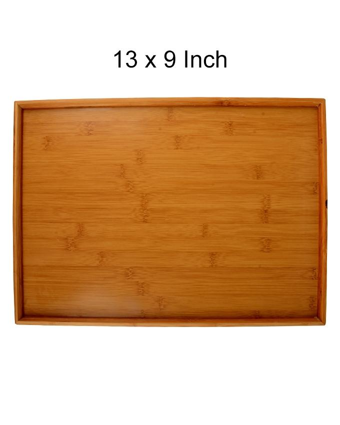 Bamboo Serving Tray - 13 x 9 Inch