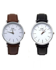 Pack Of 2 Black And Brown Stainless Steel Watch For Men. WS-29
