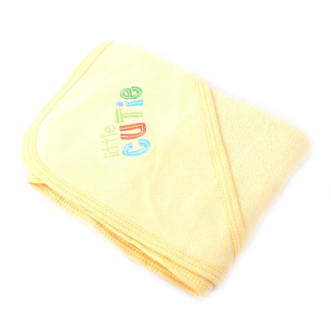 Gerber Super Soft and Absorbent Hooded Bath Towel for Kids (80% Cotton 20% Polyester) 30x30 Inch  Yellow