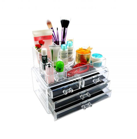 3 Drawers - Acrylic Cosmetic & Makeup Storage Box