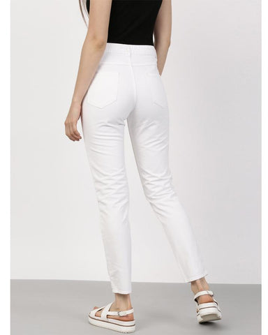 White Leather Pant For Women