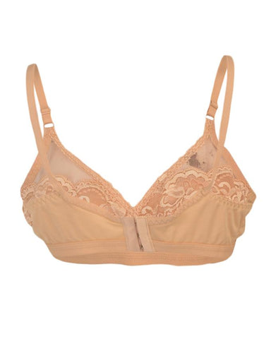 Roses Luxury Super Net Half Net Jersey 3 Hooks Plain Bra for Women - Skin Beige UG-472-32