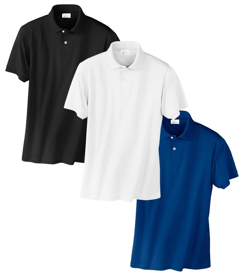 Pack Of 3 - Multicolour Poly-Cotton Polo Shirt For Men