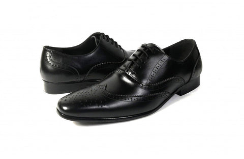 LOGO Men Formal Leather Shoes 1484 BKA