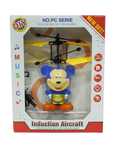 Flying Mickey Mouse Induction Toy With Lights For Kids