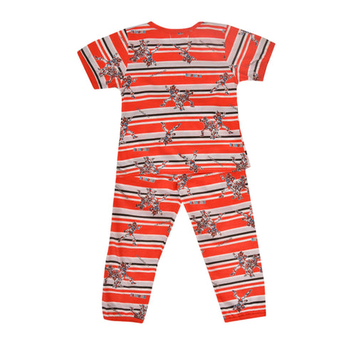 Pack of 2 Pure Cotton Night Suit (Pajama + Tshirt) for Girls - Transformers UG-427-6