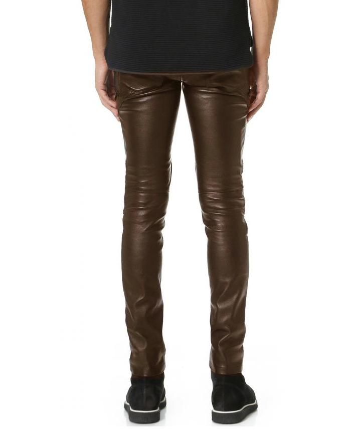 Brown Leather Pant For Men