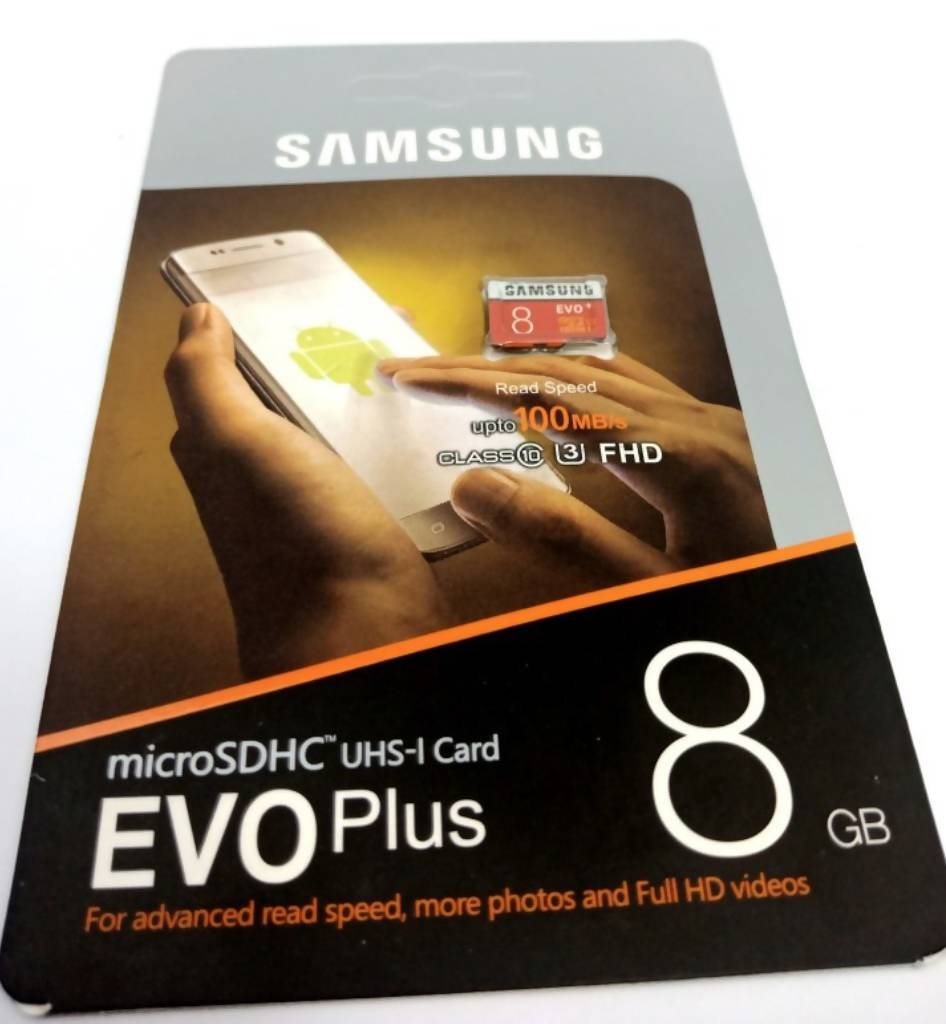 8 GB Samsung Evo Plus microSDXC UHS-I CARD