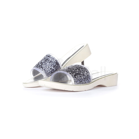 PV-5093 Women Silver Slippers Size-4