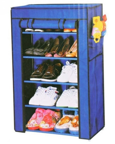 Portable 5 layer Shoe Rack Shelf - Holds upto 15 Pairs