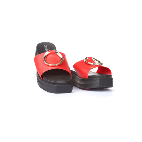 PV-5130 Women Red Slippers Size-38