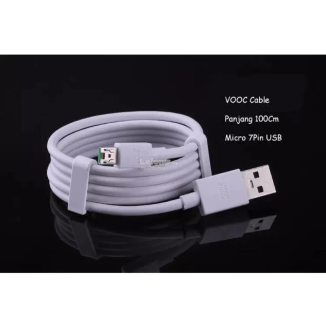 Vooc Charge Oppo Fast Charging Original Micro USB Cable White