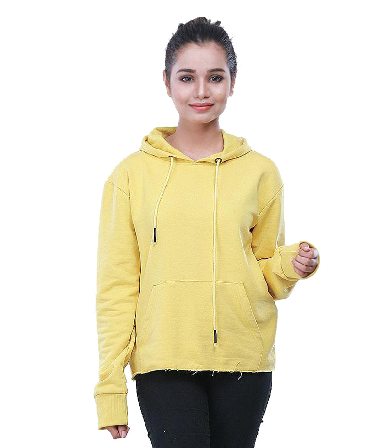 YELLOW HOODIE FOR GIRLS
