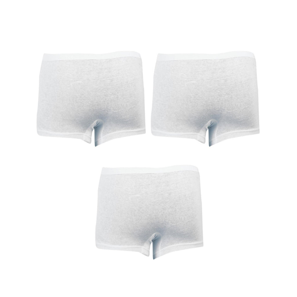 Mancare Pack of 3 Pure Cotton Underwear for Men - White UG-481-S