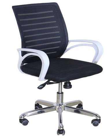 Office Imported Back Mesh Revolving Chair - Black
