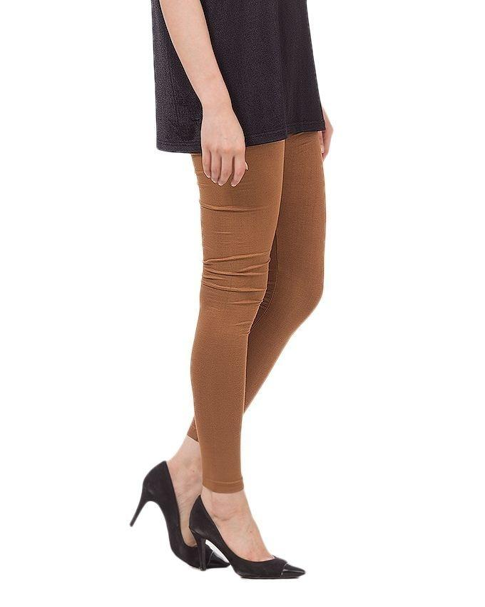 Brown Viscose Tights for women