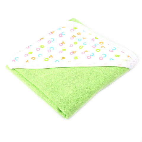 Angel Kids Hooded Single (Thin) Bath Towel For Kids (100% Cotton) 30x30 Inch  Green