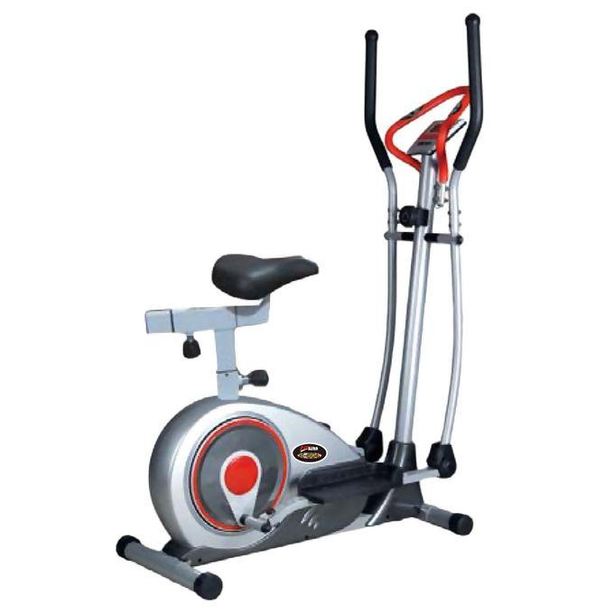 Magnetic Bike + Elliptical Trainer - JS603A - Black & Silver