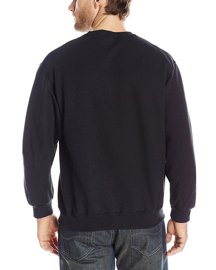 Black Solid Fleece Sweatshirt For Men. SS-73