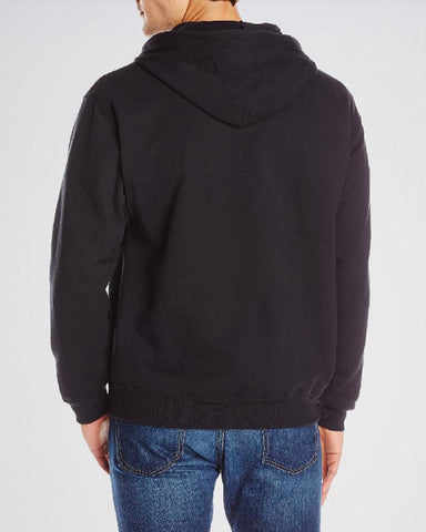 Black Zipper Fleece Hoodie For Men. SS-69