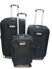 Toro . By Pakistan 3 Pcs Set 4 Wheel Spinner Troly Suitcase Set-spinner black
