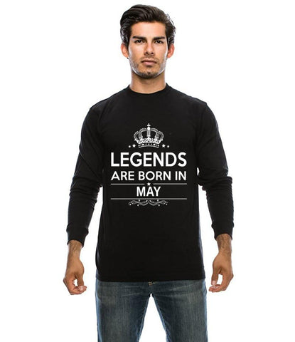 Black Legends Are Born In May T-shirt For Men