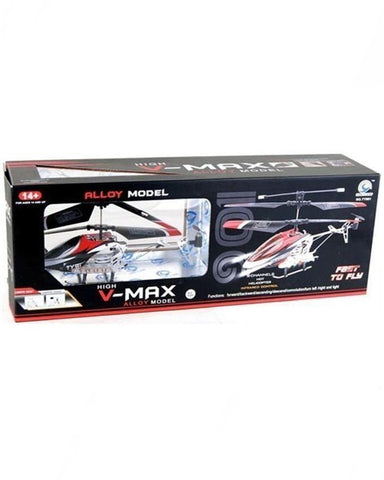 V Max Flying Helicopter With Remote Control - Multicolor