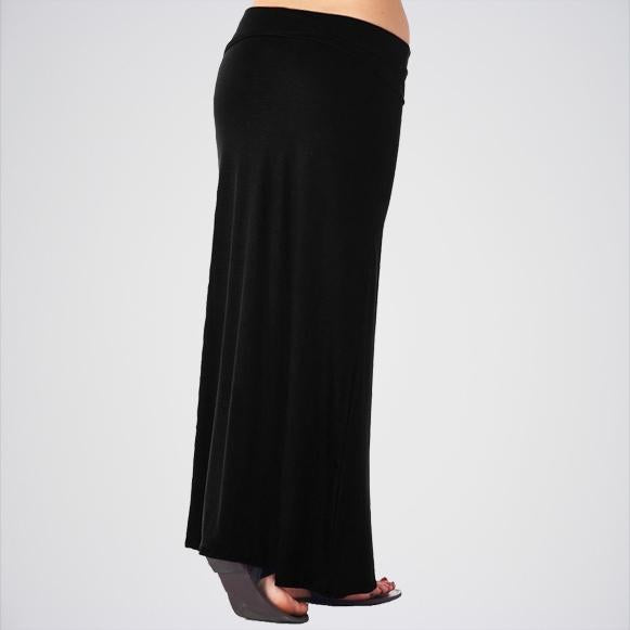 Women's Black Maxi Skirt. E4h-Mxblk